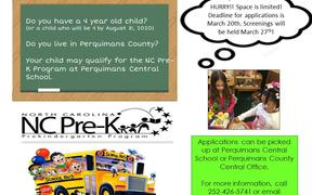 NC Pre-K Applications Available