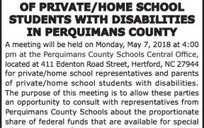 Meeting for Private/Home School Reps