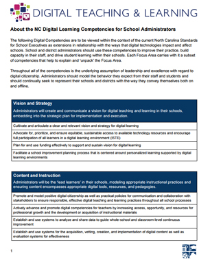 Digital Learning Competencies for Administrators