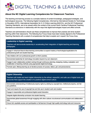Digital Learning Competencies for Teachers