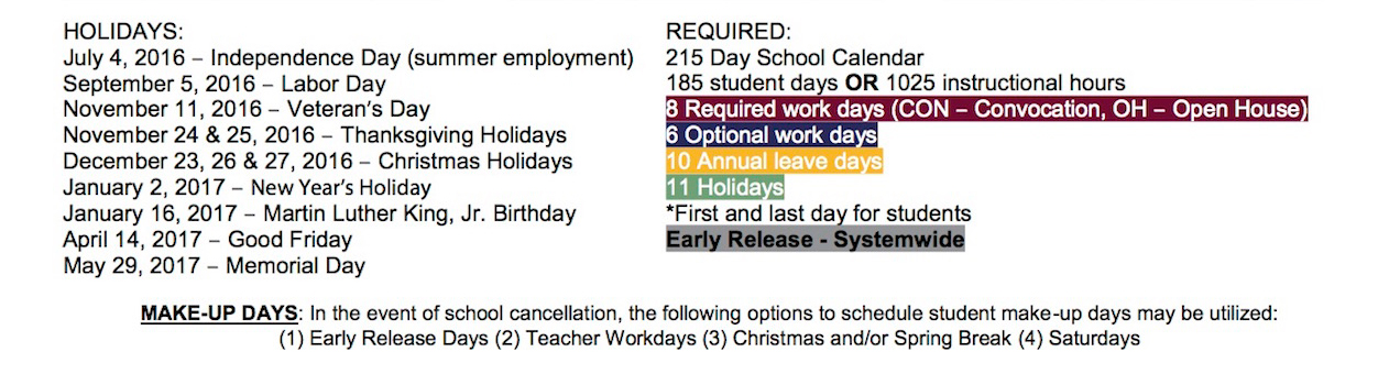 Holidays & Required